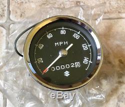 1968 1969 Suzuki T500 Cobra Titan Speedometer NOS EXTREMELY RARE NEW OLD STOCK