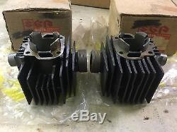 1971 Suzuki T125 T125II T125R STINGER L/R Cylinder NOS 11211-20100 & 11221-20101