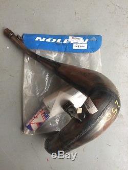 1999 2000 NOS Suzuki RM250 Noleen Nickel Pipe Silencer Combo