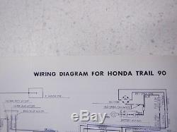 66-67-68 Honda Ct90 Trail 90 K0 Ct Ko Nos Original Oem Owner's Drivers Manual