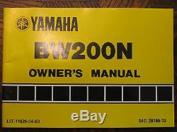 85 Yamaha Bw200n Bw200 N Bw 200n 200 Big Wheel Nos Original Oem Owner's Manual