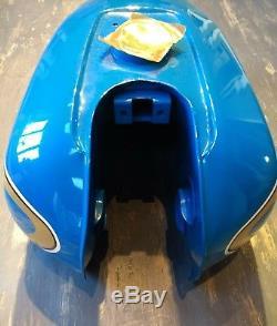 GENUINE Suzuki GP100 GP125 RARE NOS CONDITION FUEL TANK BLUE BOXED
