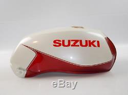 New Nos Suzuki 1984 1985 1986 Gs450 White Burgundy Gas Fuel Tank 49100-44410-87p