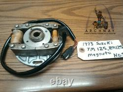 NOS OEM SUZUKI 1973 TM125 RM125 Magneto Alternator