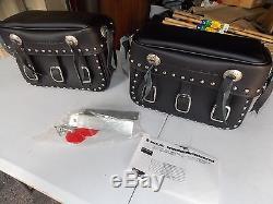NOS OEM Suzuki Rigid Mount Saddle Bag Set Maurader VZ800 99950-80043 99950-80044