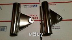 NOS Pair Suzuki Motorcycle Headlight Bracket Fork Ear Fork Cover T500 T350 T250