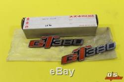 NOS Suzuki 1972-1977 GT380 GT 380 OEM Cover Emblem SET GT 68141-33000