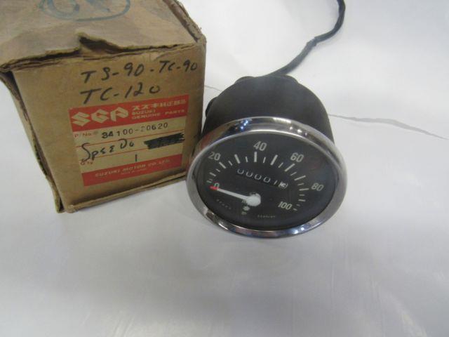 Nos Suzuki Tc120 Tc90 Ts90 T125 Speedometer New In Box 34100-20620