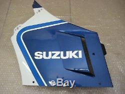 NOS cowling cover LH side Suzuki 1987 GSX-R1100 H white / blue 94440-06B20-9HJ