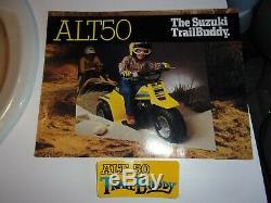 New NOS genuine Suzuki ALT50 Trail Buddy front fender decal sticker LAST ONE