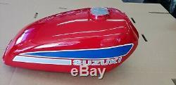 New Nos 1974 Suzuki Ts250 Savage Red Gas/fuel Tank Vintage Ahrma 44110-30300-293