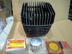 Nos Genuine Suzuki Gp125 Cylinder Block Jug Barrel Head Piston Set Ring Clip