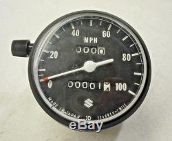 Nos New Suzuki 71-76 Ts185 71-77 Tc Ts125 Speedo Speedometer Oem 34100-28611