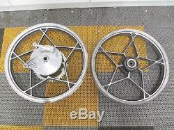 Nos Suzuki Gs425 Gs400 Gs Pair Of Genuine Aluminium Cast Wheels