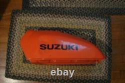 Oem Nos Dealer Take Off Suzuki Ts Ds 185 250 Orange Gas Tank No Gas