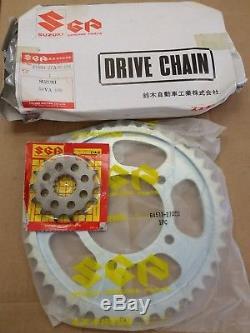 RARE NOS GSXR750 1985-86 Slabside NOS Genuine Suzuki Chain & Sprocket Set