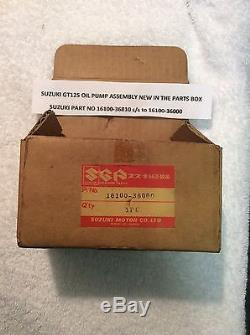 SUZUKI GT125 LMABC NOS OIL PUMP ASSEMBLY PT NO 16100-36810 to 16100-36000