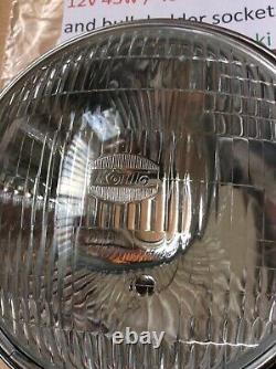 SUZUKI GT550 GT750 RE5 KOITO HEADLIGHT ASSEMBLY WithSIDE LIGHT PORT + BULB HOLDER