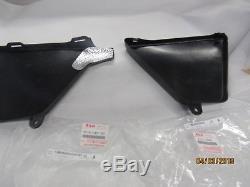 SUZUKI SP370, SP400, DR370 1978-80 Nos R/H and L/H side cover set Black