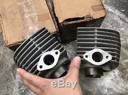 Suzuki 250cc T20 TC250 L/R Cylinder Block&Piston&Ring Set STD NOS Genuine Japan