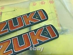 Suzuki 73-74 T500 T500K T500L Tank Badges Emblem NOS x2 Genuine P/N 68111-15601