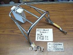 Suzuki 80-81 TS100 TS125 TS185 NOS Rear Luggage Carrier Rack OEM 46310-48500 EXC