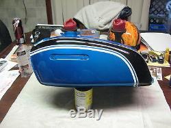 Suzuki Fuel Tank GT550 1972 NOS BLUE / GOLD IN STOCK