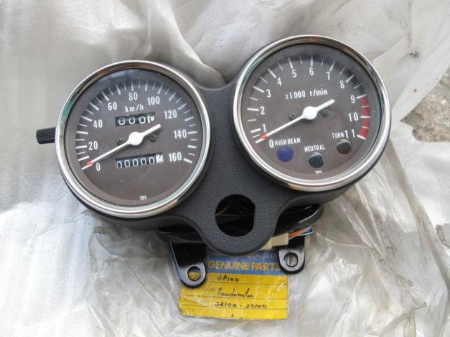 Suzuki Gp100 Gp125 Speedometer&tachometer Gauge Meter Set Nos Genuine Japan