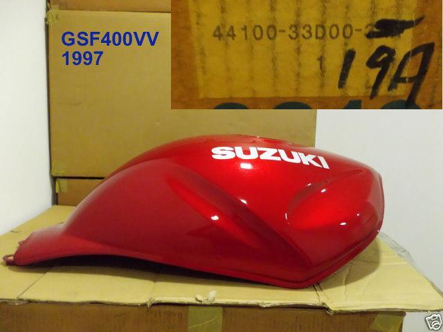 Suzuki Gsf400 Fuel Tank 1997 Nos Gsf400vv Gas Tank 44100-33d00-19a Bandit 400