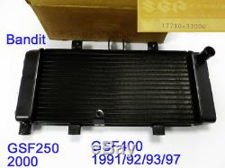 Suzuki GSF400 Radiator Assy 1991-97 NOS GSF250 COOLER 1991 BANDIT 17710-33D00