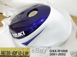 Suzuki GSX-R1000 Fuel Tank 2001-02 NOS GSXR1000 Gas Tank 44100-40F10-L99 GSX-R
