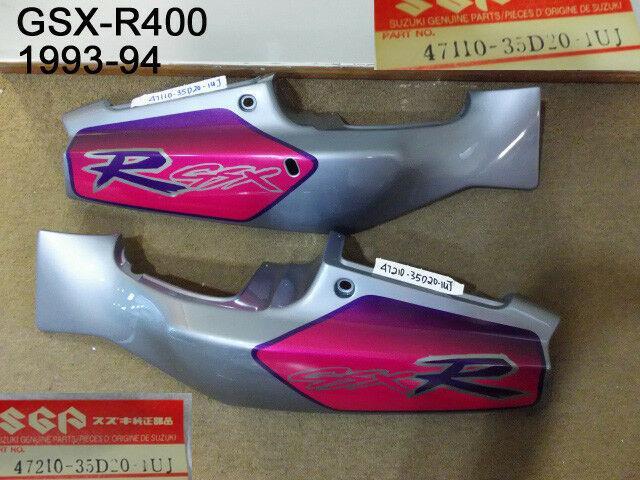 Suzuki Gsx-r400 Side Cover L + R 1993-94 Nos Frame Fairing Panel 47110-35d20-1uj
