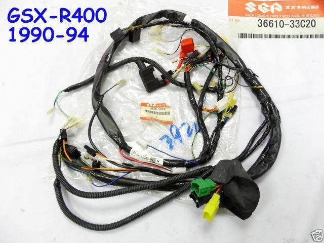 Suzuki Gsx-r400 Wireharness 1990-94 Nos Gsxr400 Wire Harness 36610-33c20 Loom