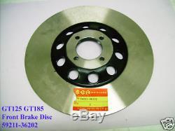 Suzuki GT125 GT185 GT200 GT250 Front Brake Disc NOS FRONT WHEEL 59211-36202
