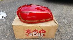 Suzuki GT380 Sebring NOS Fuel Tank Gypsy Candy Red