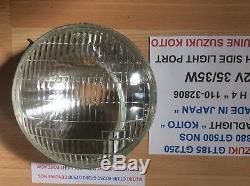 Suzuki Gt185 Gt250 Gt380 Gt500 Nos Koito Headlight With Side Light Port New Nice