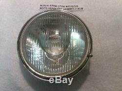 Suzuki Gt550 Gt750 Re5 Nos Koito Headlight Assembly Bulb Type + Side Light Port