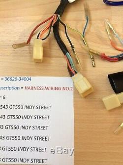Suzuki Gt550 Jklmab 72-77 Nos No2 Wiring Harness / Loom New Pt No 36620-34004