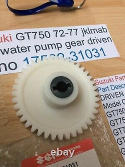 Suzuki Gt750 J. K. L. M. A. B 72-77 Nos Water Pump Gear Pt No 17522-31031 With Tag