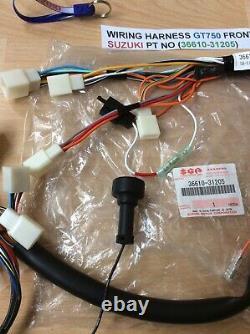 Suzuki Gt750 Nos Front + Rear Wiring Harness Loom 36610-31205 36620-31004