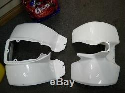 Suzuki Lt50 New Old Stock Front And Rear Panel Plastics White Mud Guards