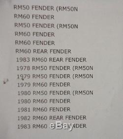 Suzuki Nos Rm50, Yellow Rear Fender, 63111-46610-163 #204