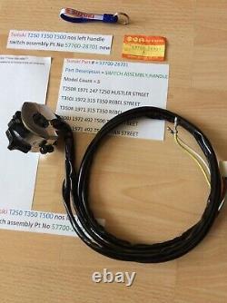 Suzuki Nos T250 T350 T500 Gt250 Gt500 Left Side Handle Switch 57700-28701