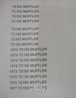 Suzuki Nos Ts185 1973 Tc185 1974, Muffler Cover, 14781-29600/ 14781-29610 #204