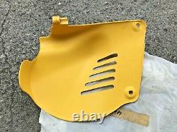 Suzuki PE175 RM100 RM125 LH Frame Side Cover Yellow NOS P/N 47211-41301-163