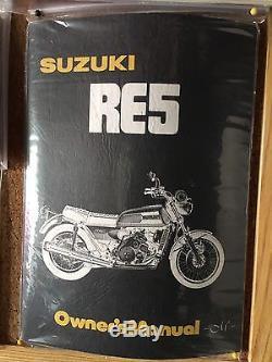 Suzuki RE5 Rotary Mint NOS Owners Handbook