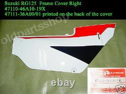 Suzuki RG125 Frame Cover L+R NOS 125 Gamma SIDE COVER PAIR -19X Plastic Panel