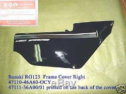 Suzuki RG125 Side Cover & Frame Panel NOS RG 125 Gamma Fairings Set COVER Panels