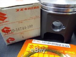 Suzuki RG250 Piston & Piston Ring 1.00 x2 NOS 250 GAMMA 12110-16744 12140-39312