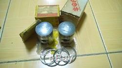 Suzuki T125 T125II T125R STINGER Piston 43mm+Ring Set STD NOS Genuine Japan